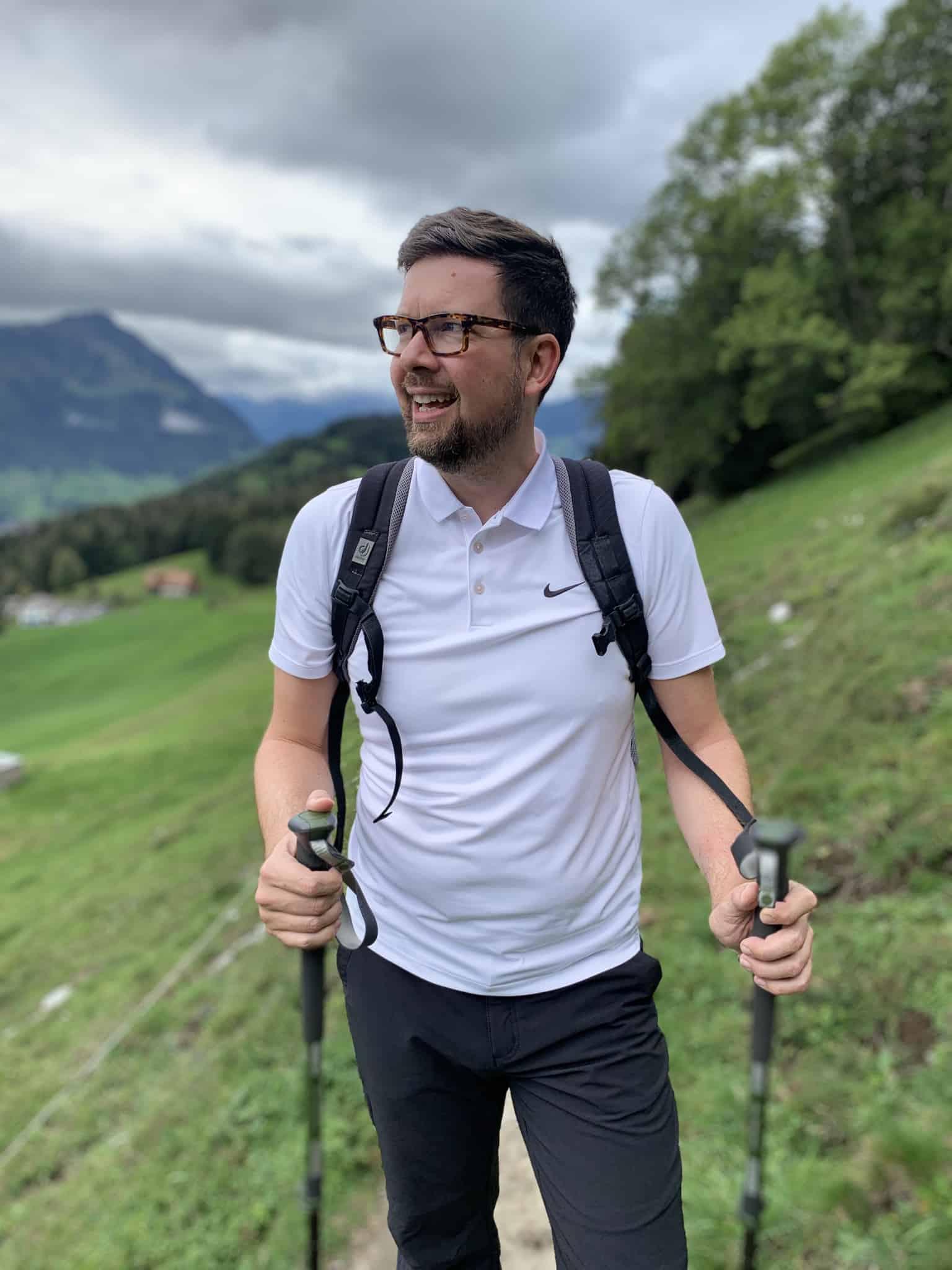 Ansgar beim Wandern